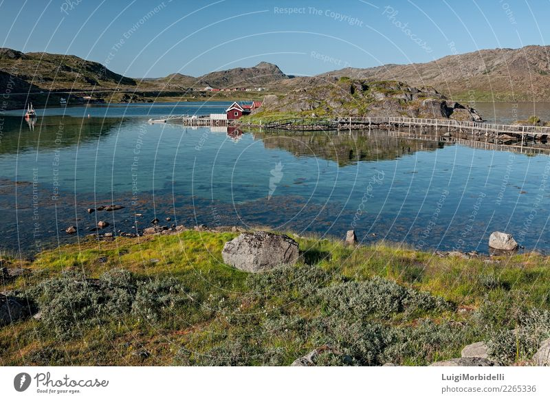 Honningsvag in Norway Vacation & Travel Tourism Trip Summer Mountain Nature Landscape Sky Hill Fjord Lake Watercraft Natural Colour honningsvag norwegian