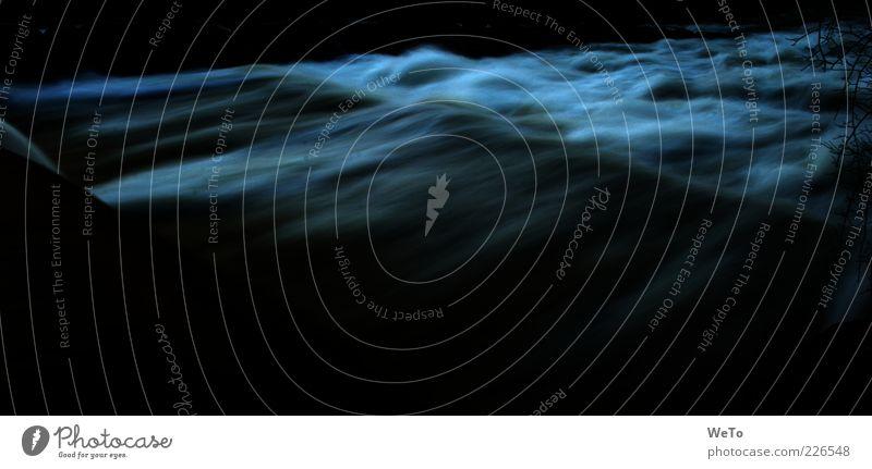 Water Dark Environment Movement Waves Wild Natural River Flow White crest Long exposure Dreisam