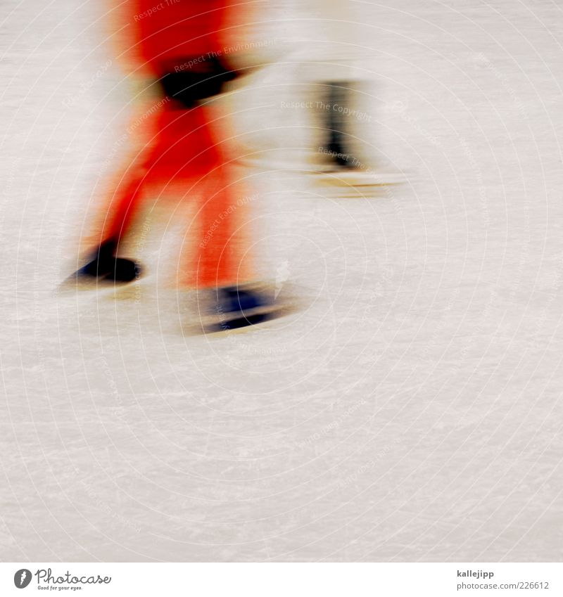 Human being Red Winter Cold Sports Movement Orange Ice Leisure and hobbies Walking Frost Ice-skating Ice-skates Glide Scratch mark Frozen surface