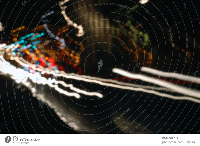 Street Dark Movement Car Energy Transport Esthetic Speed Stripe Illuminate Driving Transience Logistics Traffic infrastructure Stress Chaos