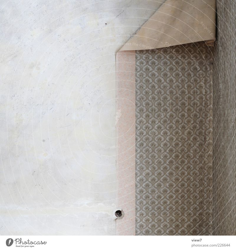 Old Wall (building) Wall (barrier) Line Brown Facade Concrete Interior design Stripe Retro Simple Transience Wallpaper Moving (to change residence) Past Decline