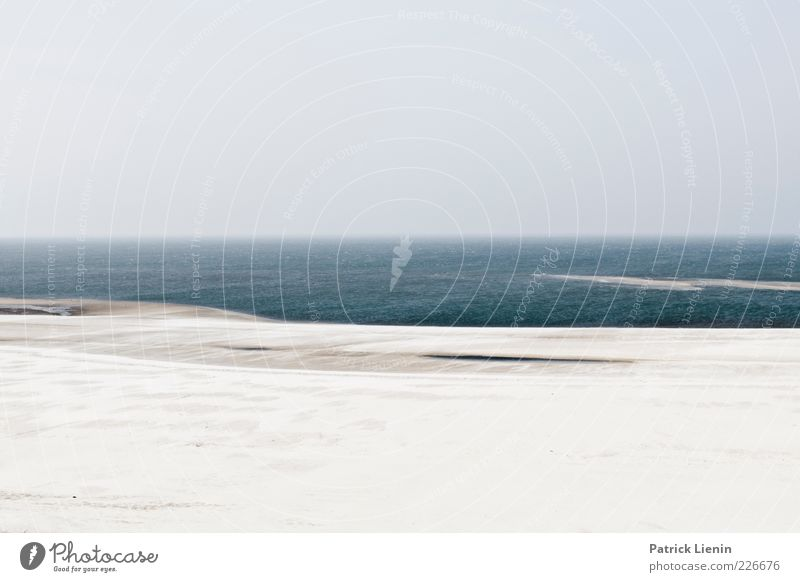 sea side Environment Nature Landscape Elements Earth Sand Air Water Sky Climate Weather Coast Beach North Sea Ocean Far-off places Infinity Amrum Blue Gray