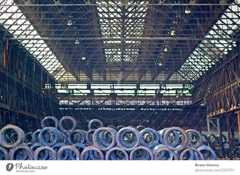 Old Dark Gray Metal Large Gloomy Authentic Industry Steel Rust Warehouse Coil Storage Competition Responsibility Gigantic