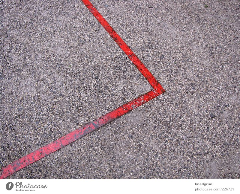 Red Gray Line Metal Wet Signs and labeling Arrangement Corner Point Border Edge Pebble Sharp-edged Boundary At right angles Playing field parameters