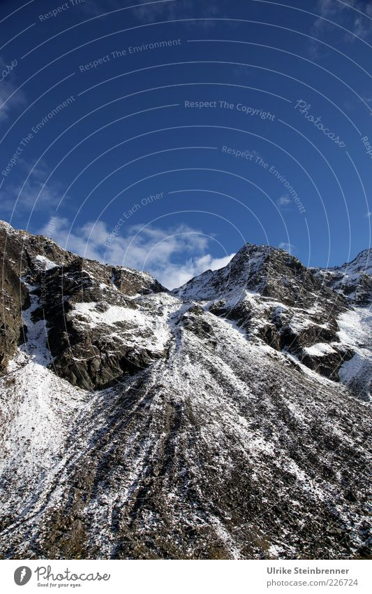 Nature Sky Cold Snow Autumn Mountain Landscape Ice Rock Tall Frost Alps Peak Beautiful weather Austria Glacier