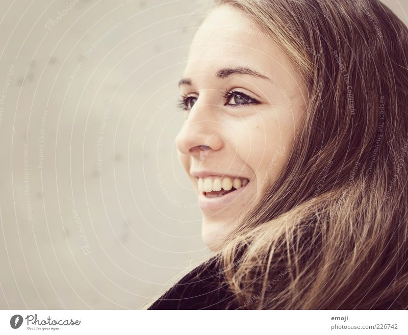 Human being Youth (Young adults) Beautiful Face Feminine Head Hair and hairstyles Laughter Adults Mouth Smiling 18 - 30 years Long-haired Young woman Woman