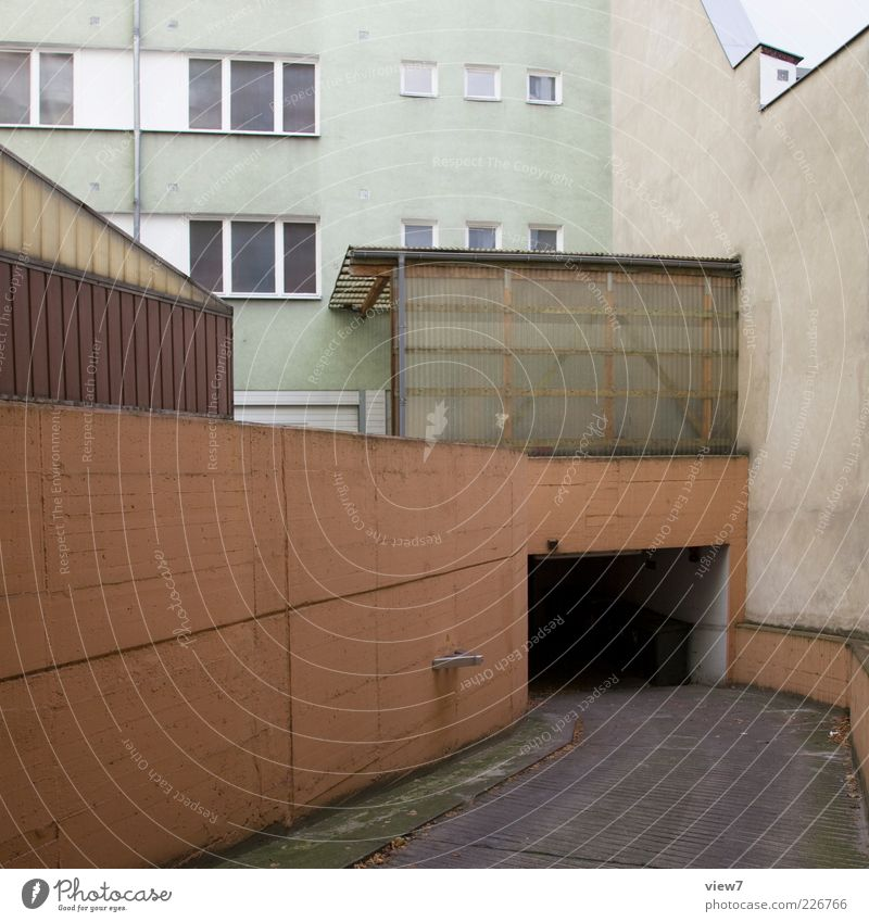 Old Loneliness House (Residential Structure) Far-off places Street Wall (building) Architecture Wall (barrier) Brown Facade Concrete Arrangement Modern