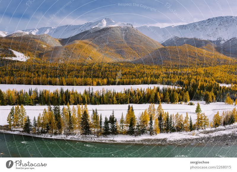 nine layers of nature Hiking Nature Landscape Water Clouds Autumn Winter Climate change Beautiful weather Snow Tree Bushes Meadow Forest Hill Rock Alps Mountain