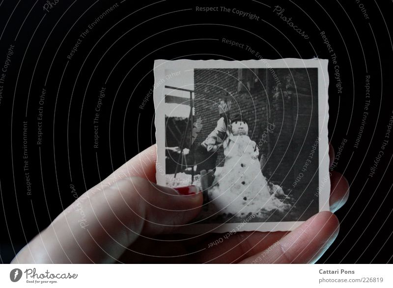 remembrance Human being Young woman Youth (Young adults) Couple 1 Winter Weather Snow Kissing Snowman Lady Hand Image Interior shot Day Looking away