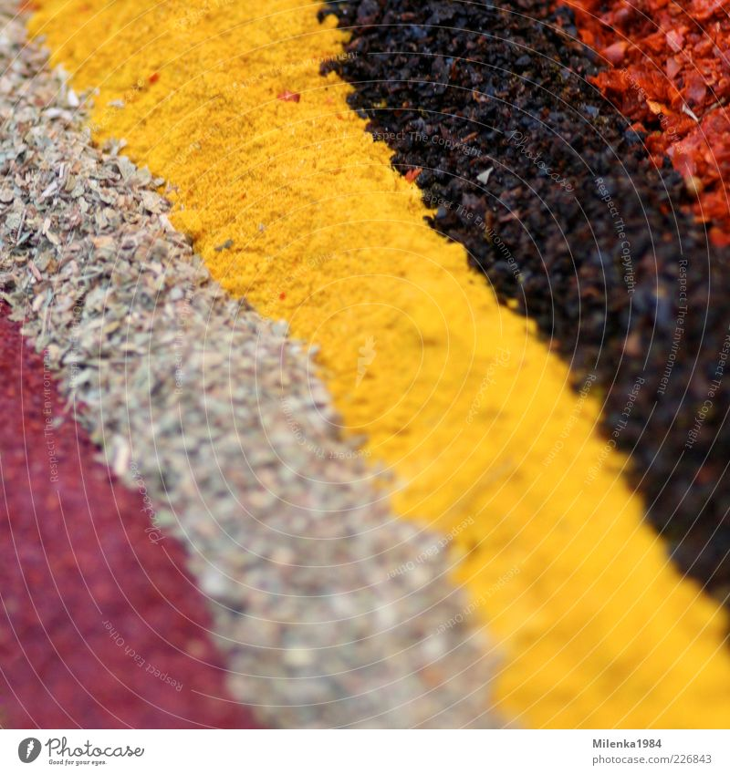 Colorful streets Food Nutrition Multicoloured Yellow Herbs and spices Colour photo Exterior shot Close-up Detail Macro (Extreme close-up) Pattern High-key