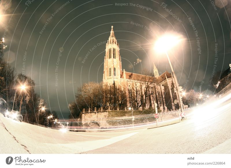 Saint Greiz z'Giasing Munich Town Church Dome Places Tower Manmade structures Building Architecture Facade Road traffic Street Crossroads Lantern Car Energy
