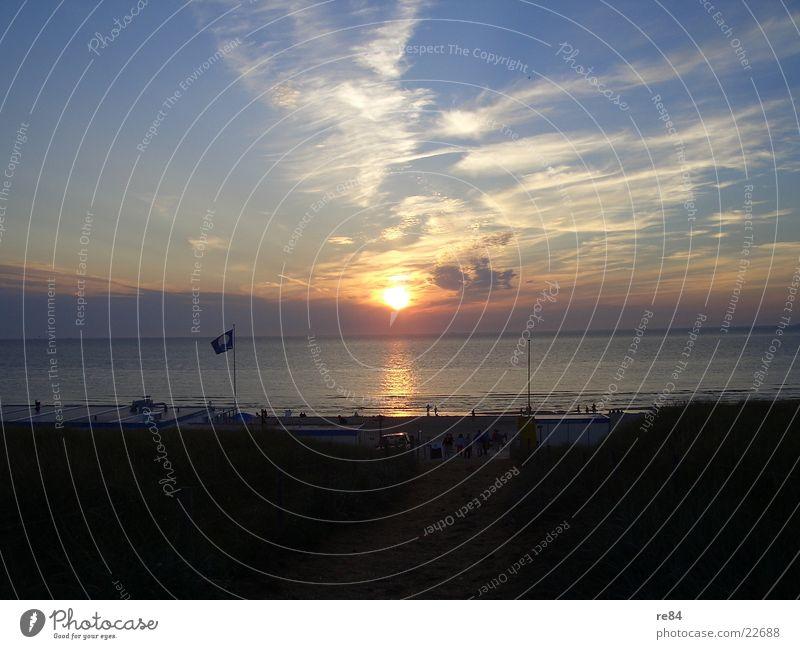 Blue Beautiful Sun Ocean Clouds Beach Dark Coast Bright Dream Orange Free Romance Clarity North Sea Netherlands