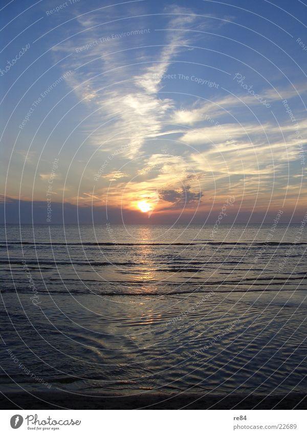 Blue Beautiful Sun Ocean Clouds Beach Dark Coast Bright Dream Orange Free Europe Romance Clarity North Sea