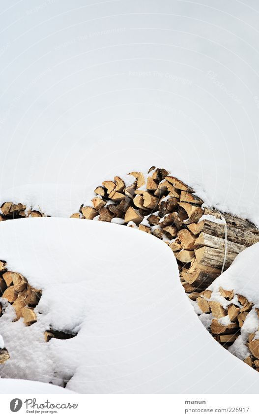 firewood Nature Sky Winter Ice Frost Snow Wood Raw materials and fuels Raw materials depot Renewable raw materials Firewood Stack Authentic Simple Bright Cold