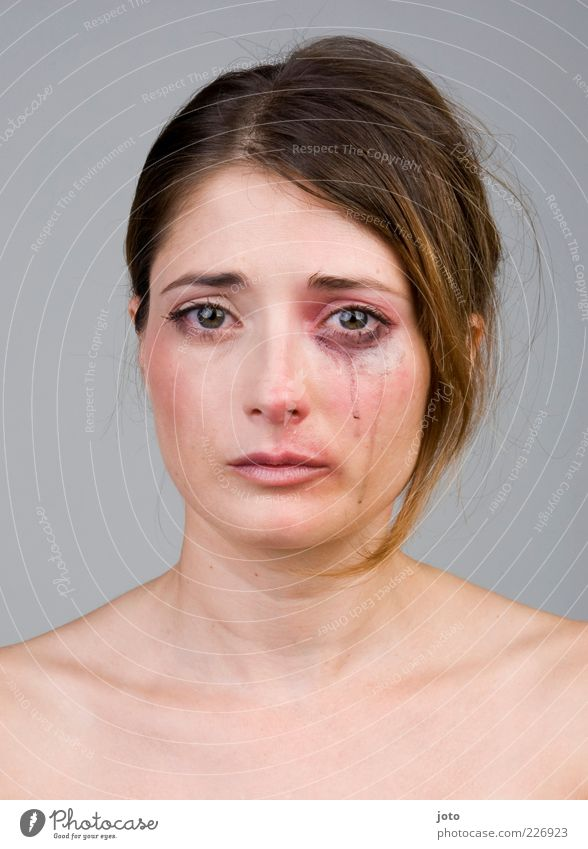 Woman Youth (Young adults) Beautiful Loneliness Adults Feminine Hair and hairstyles Sadness Power Fear Authentic Grief Young woman Pain Brunette Facial expression