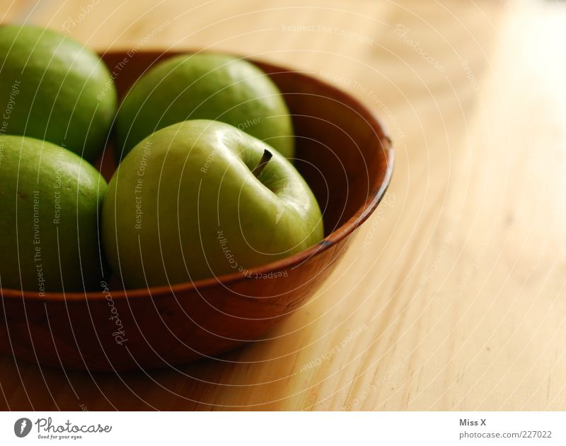 Green Nutrition Wood Food Fruit Fresh Sweet Apple Delicious Diet Organic produce Bowl Juicy Sour Vegetarian diet Light