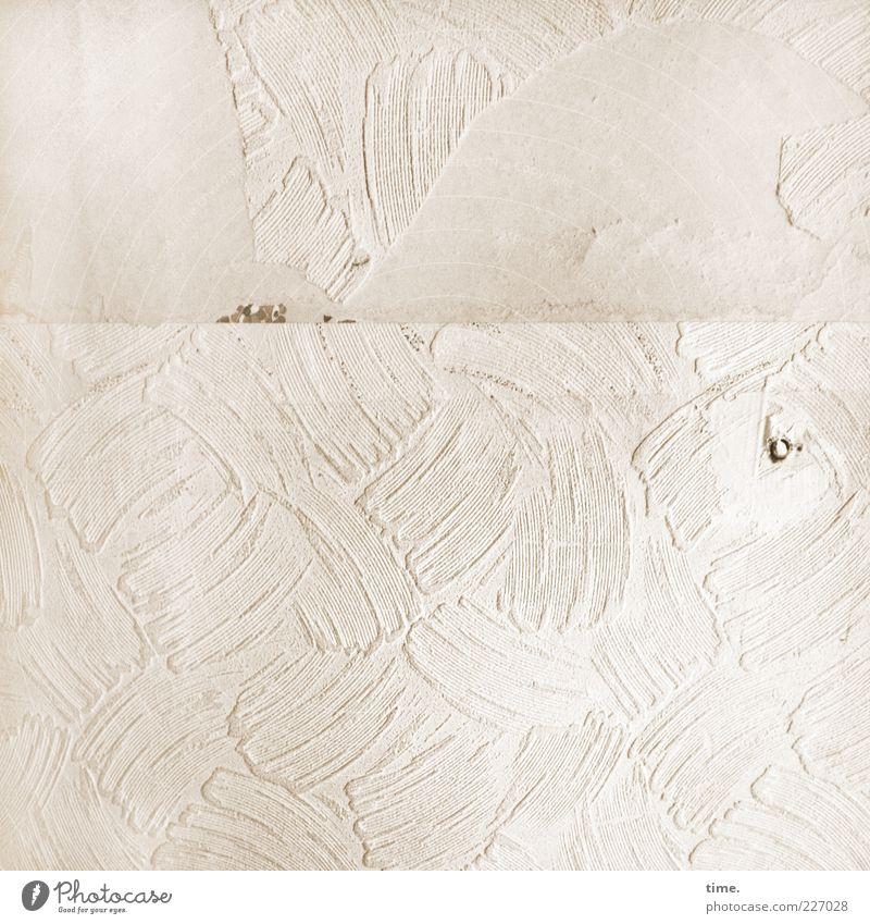 Old Wall (building) Wall (barrier) Dye Bright Concrete Paper Broken Decoration Wallpaper Hollow Plaster Crack & Rip & Tear Patch Beige Gypsum