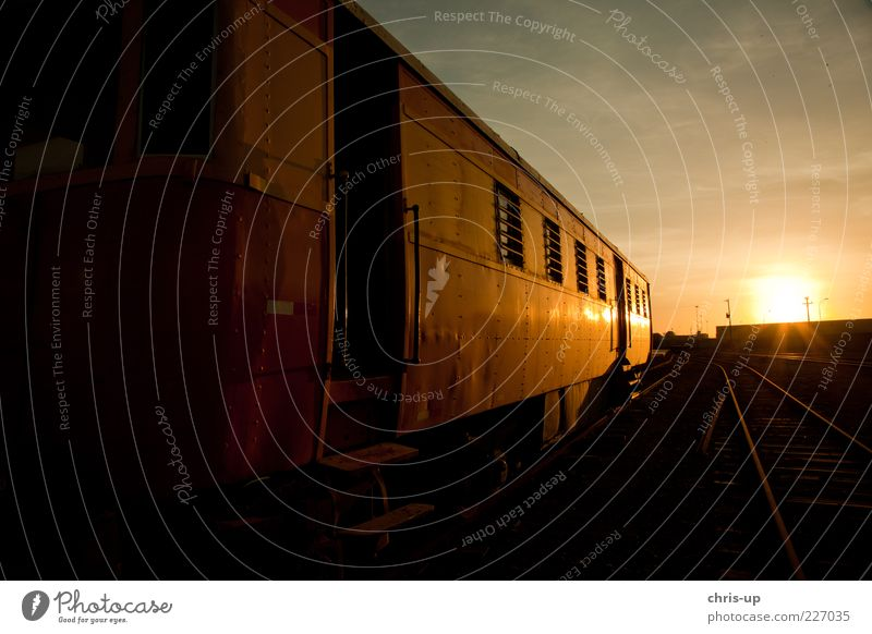 Old Beautiful Sun Vacation & Travel Black Yellow Trip Tourism Railroad Railroad tracks Traffic infrastructure Train station Passenger traffic Means of transport