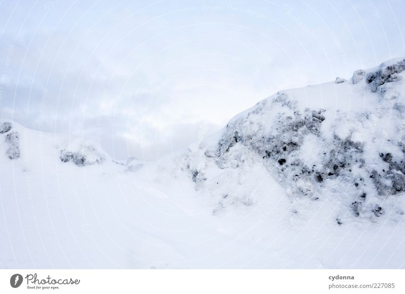 Sky Nature White Winter Calm Loneliness Far-off places Life Snow Freedom Environment Mountain Landscape Dream Bright Ice