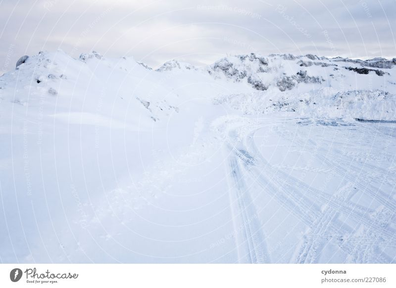 Alpine panorama. Didn't I? Far-off places Freedom Environment Nature Landscape Winter Climate Ice Frost Snow Alps Mountain Street Lanes & trails Esthetic