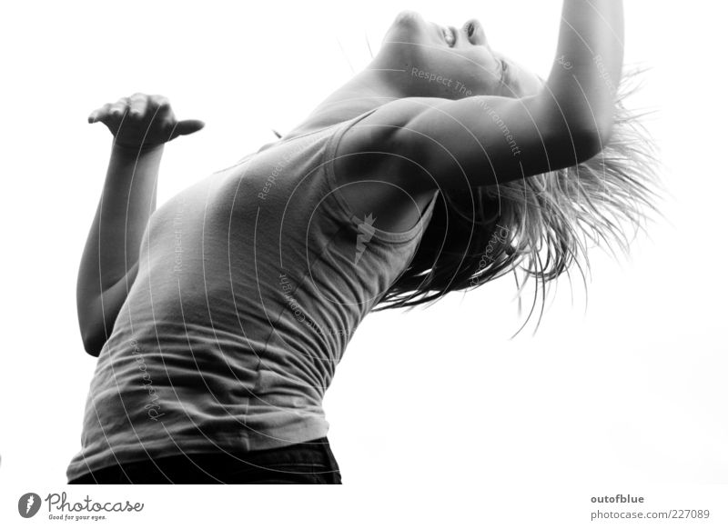 leap in life Feminine 1 Human being Jump Athletic Free Muscular Natural Strong Wild Joy Happy Happiness Joie de vivre (Vitality) Euphoria Lack of inhibition