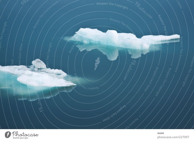 Nature Blue Ocean Calm Cold Environment Ice Climate Frost Clarity Iceland Float in the water Surface of water Melt Weather Ice floe