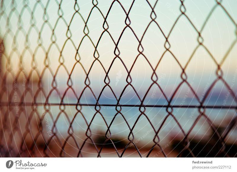 Summer Horizon Gold Closed Hope Metalware Longing Fence Barrier Wanderlust Captured Rectangle Vista Homesickness Hazy Cage