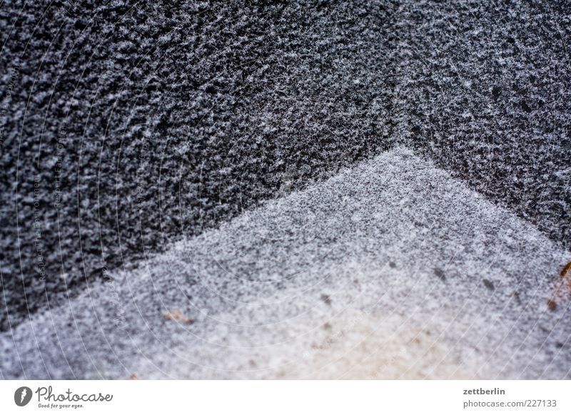 Winter Cold Line Design Corner Diagonal Mature Geometry Surface Hoar frost Water basin