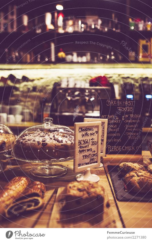 Selection of cake and pastries in coffeehouse Food Nutrition Breakfast To have a coffee Organic produce Vegetarian diet Hot drink Coffee Latte macchiato