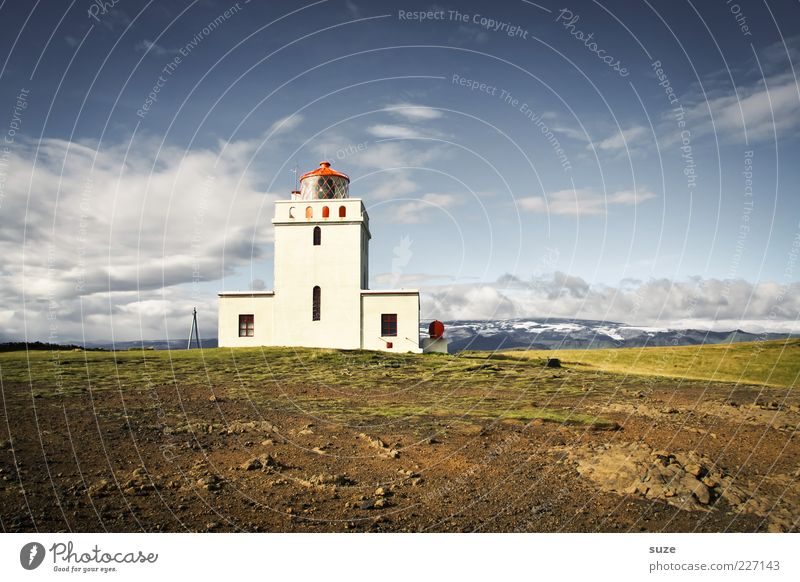 newsreel Environment Nature Landscape Elements Earth Sky Clouds Horizon Summer Climate Weather Beautiful weather Meadow Hill Lighthouse Fantastic Wanderlust