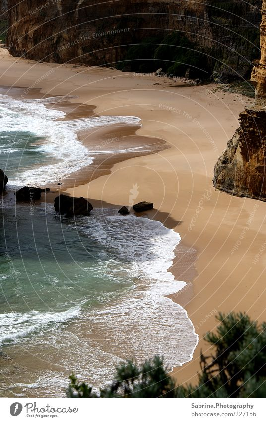 Nature Water Beach Ocean Freedom Landscape Sand Coast Stone Waves Rock Beautiful weather Surf Tourist Attraction Australia Cliff