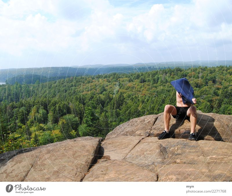 rest Athletic Fitness Vacation & Travel Tourism Trip Adventure Far-off places Freedom Mountain Hiking Climbing Mountaineering Man Adults Nature Landscape Sky