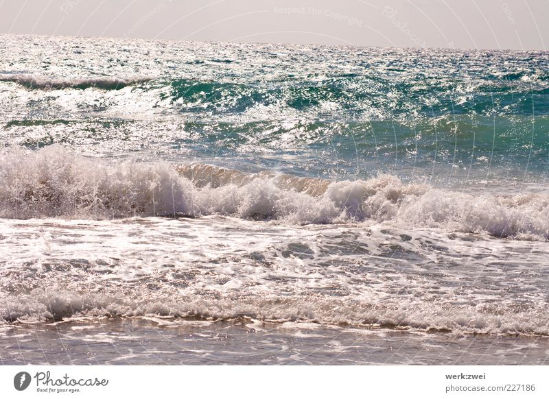 Nature Water Summer Beach Ocean Far-off places Freedom Environment Landscape Coast Waves Horizon Drops of water Infinity Discover Eternity