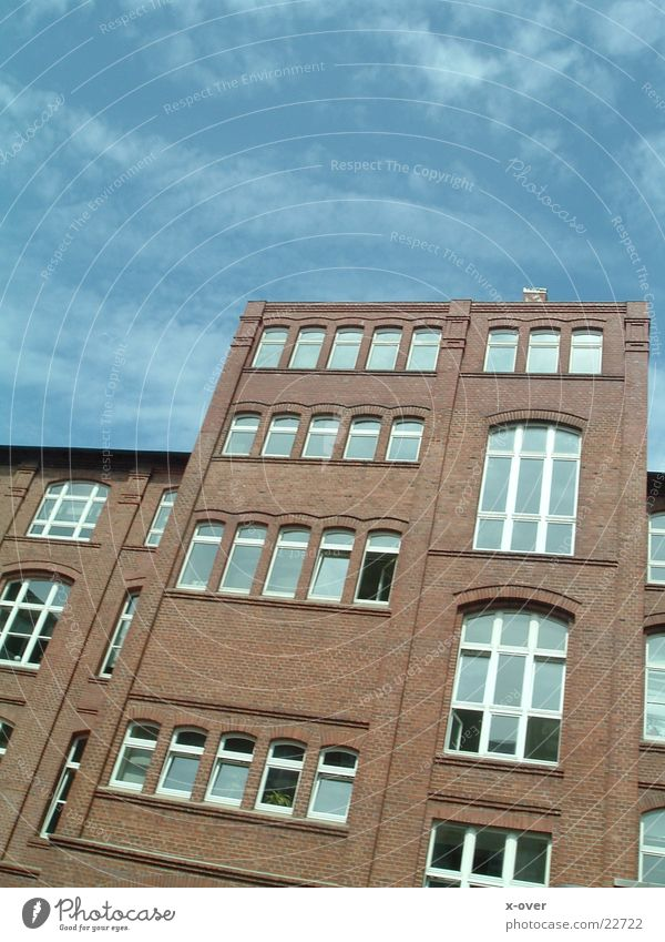 big house House (Residential Structure) Factory Bielefeld Window Architecture Graffiti Sky