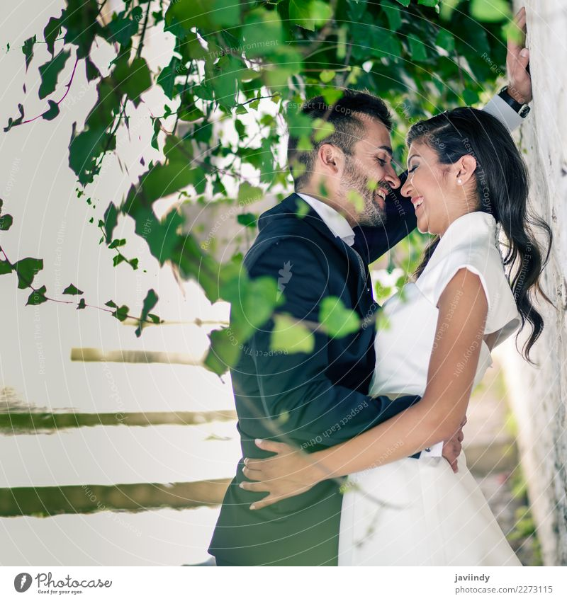 Just married couple together Feasts & Celebrations Wedding Human being Young woman Youth (Young adults) Young man Woman Adults Man Couple 2 18 - 30 years Plant