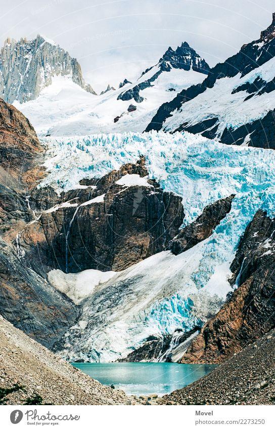 Torres del Paine Landscape Elements Water Climate change Snow Rock Mountain Peak Snowcapped peak Glacier Discover Vacation & Travel Hiking Adventure