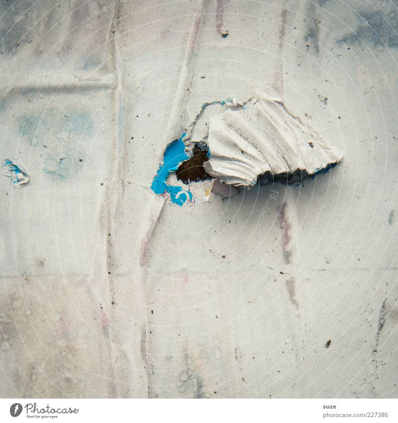 Blue Old Wall (building) Gray Wall (barrier) Background picture Dirty Gloomy Broken Paper Change Dry Part Wrinkles Advertising Decline