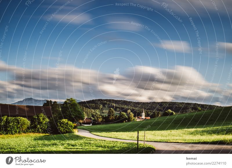 Habach, Bavaria Harmonious Well-being Contentment Senses Relaxation Calm Vacation & Travel Trip Freedom Summer Summer vacation Hiking Nature Landscape Sky