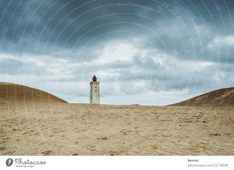 Rubjerg Knude Harmonious Senses Calm Vacation & Travel Tourism Adventure Far-off places Freedom Sightseeing Summer Landscape Sky Clouds Weather Coast Sand Dune