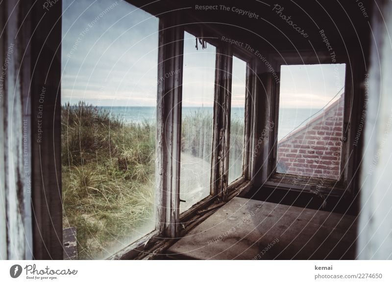 Sky Vacation & Travel Nature Old Landscape Ocean Clouds Calm Window Dark Wall (building) Coast Building Wall (barrier) Exceptional Trip