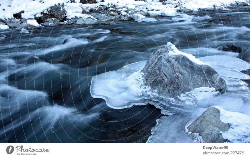 Nature Blue Water White Loneliness Joy Winter Snow Gray Freedom Stone Rock Contentment Waves Uniqueness River