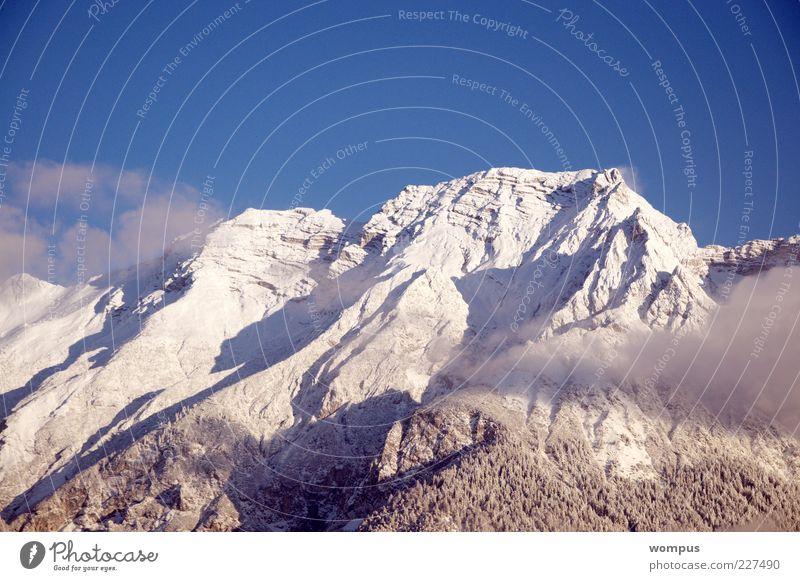 Frühmorgens wir ziehen... Nature Sky White Blue Forest Snow Mountain Gray Landscape Brown Rock Tourism Alps Hill Peak Beautiful weather