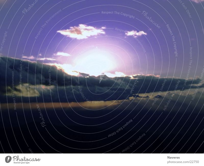 Sky Sun Blue Clouds Cold Vantage point
