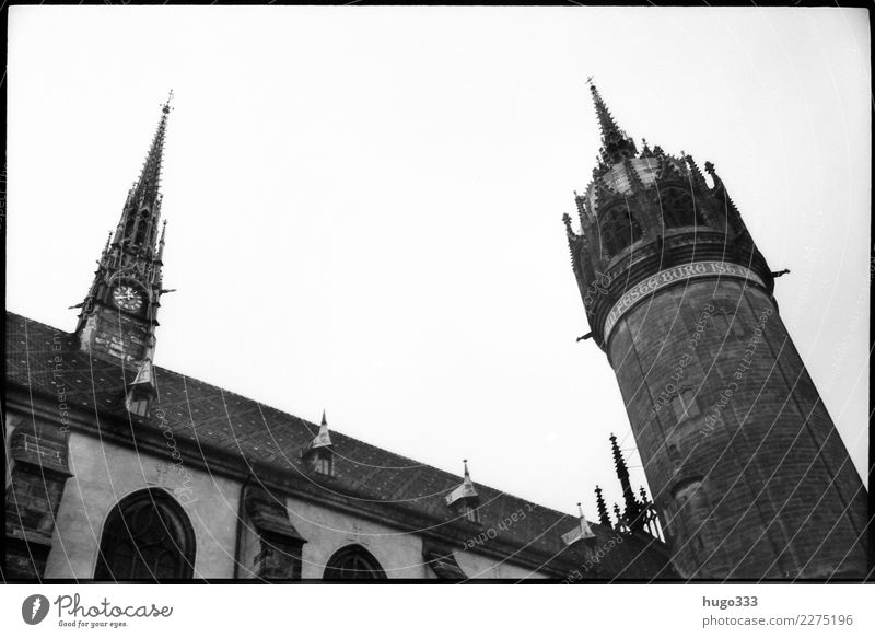Martin Luther Lutherstadt Wittenberg Saxony-Anhalt Europe Town Old town Church Dome Manmade structures Building Facade Tourist Attraction Landmark Church spire