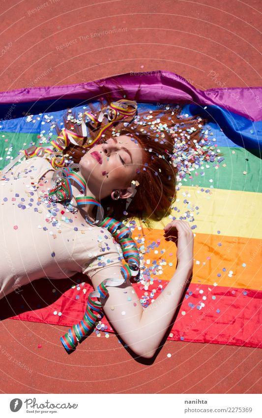 Young woman resting after a party Lifestyle Style Design Relaxation Party Event Feasts & Celebrations Human being Feminine Homosexual Youth (Young adults) 1