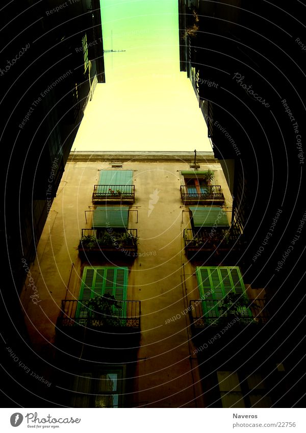 City House (Residential Structure) Window Closed Europe Balcony Alley Shutter
