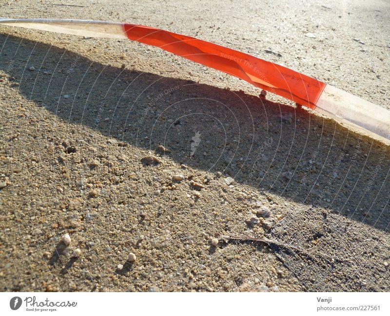 White Red Earth String Barrier Crime scene Detail Warning colour