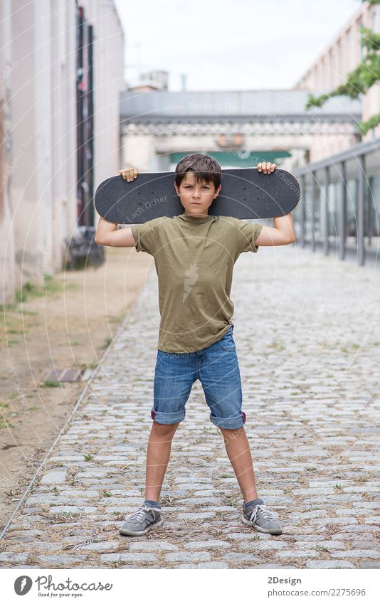 Close-up of a teenage boy carrying skateboard and smiling Vacation & Travel Youth (Young adults) Man Summer Young man Adults Lifestyle Fashion Copy Space