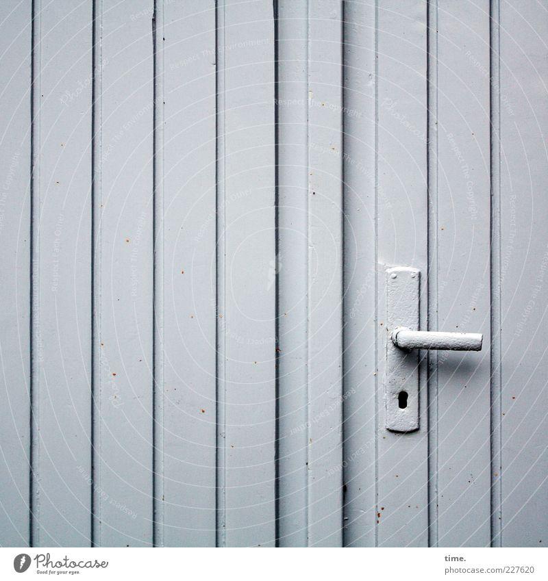 Wood Gray Metal Door Closed Uniqueness Metalware Simple Hut Entrance Boredom Parallel Vertical Garage Door handle Seam