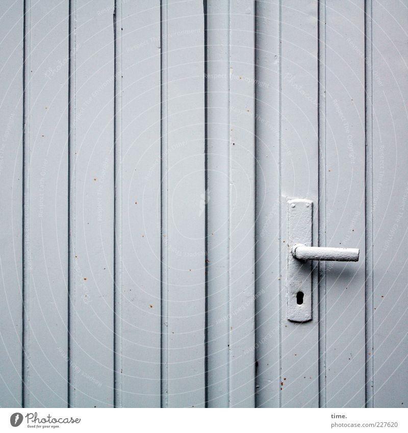 Wood Gray Metal Door Closed Uniqueness Metalware Simple Hut Entrance Boredom Parallel Vertical Garage Door handle Seam